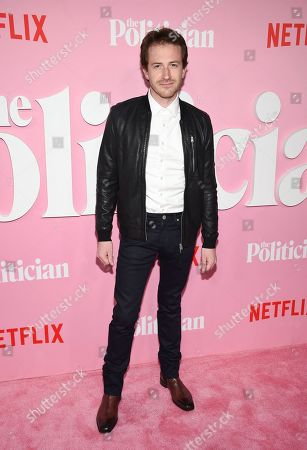 """Stock Photo of Joseph Mazzello attends the premiere of Netflix's """"The Politician"""" at the DGA New York Theater, in New York"""