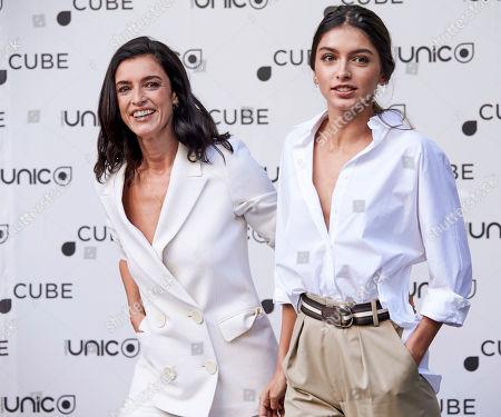 Stock Photo of Blanca Romero and Lucia Rivera