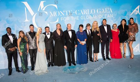 Stock Photo of Chris Tucker, Jane Seymour, Robin Thicke, Gwen Stefani, Andy Garcia, Uma Thurman, Prince Albert II and guests