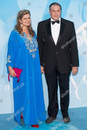 Stock Image of Diana Alvares Pereira de Melo and Prince Charles-Philippe d'Orleans