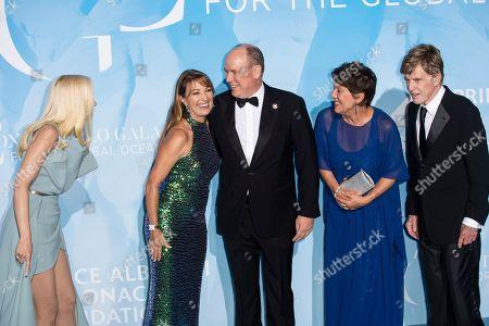 Gwen Stefani, Jane Seymour, Prince Albert II, Sibylle Szaggars and Robert Redford