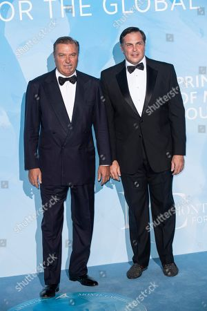 Stock Photo of Prince Carlo of Bourbon-Two Sicilies and Prince Charles-Philippe d'Orleans