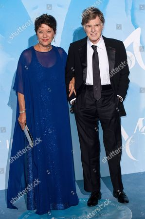 Sibylle Szaggars and Robert Redford