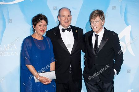 Sibylle Szaggars, Prince Albert II and Robert Redford