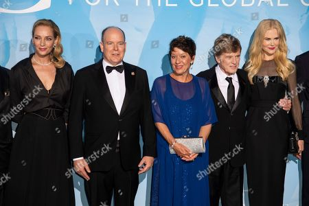 Stock Picture of Uma Thurman, Prince Albert II, Sibylle Szaggars, Robert Redford and Nicole Kidman