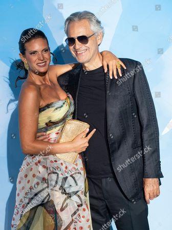 Stock Picture of Veronica Berti and Andrea Bocelli