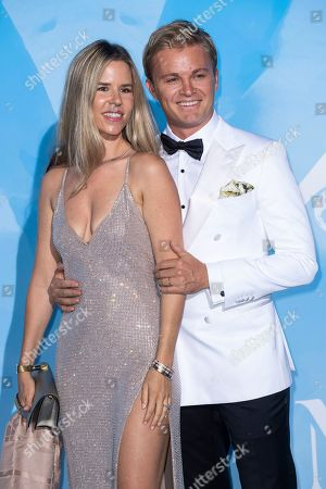 Stock Image of Vivian Sibold and Nico Rosberg