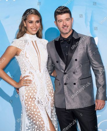 Stock Image of April Love Geary and Robin Thicke