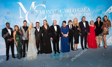 Stock Picture of Chris Tucker, Jane Seymour, Robin Thicke, Gwen Stefani, Andy Garcia, Uma Thurman, Prince Albert II and guests