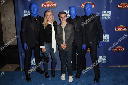 Alison Sweeney, Benjamin Sanov and the Blue Man Group