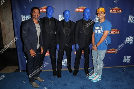 Stock Picture of Trevor Penick, Erik-Michael Estrada and the Blue Man Group