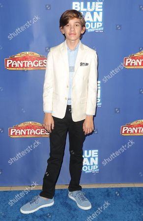 Editorial photo of Blue Man Group in concert at the Hollywood Pantages Theatre, Arrivals, Los Angeles, USA - 26 Sep 2019