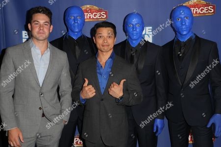 Stock Photo of Guest, Vincent Rodriguez III and the Blue Man Group