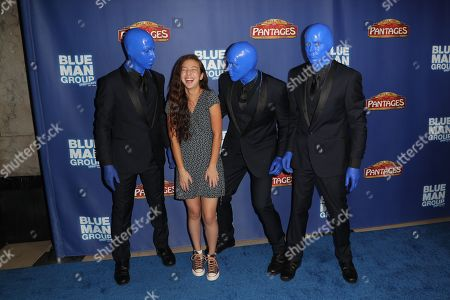 Aubrey Anderson-Emmons with the Bluer Man Group