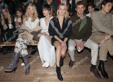 Elsa Hosk, Ana Girardot, Niels Schneider and guest in the front row
