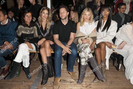 Emmanuelle Alt, Doutzen Kroes, Elsa Hosk, Jourdan Dunn and guest in the front row