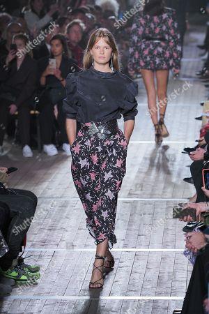 Editorial photo of Isabel Marant show, Runway, Spring Summer 2020, Paris Fashion Week, France - 26 Sep 2019