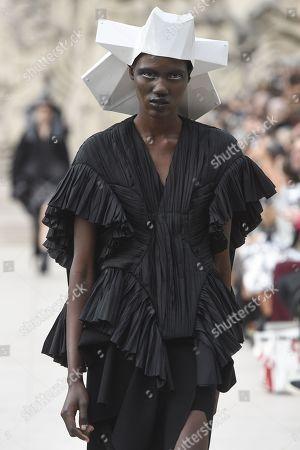 Model on the catwalk