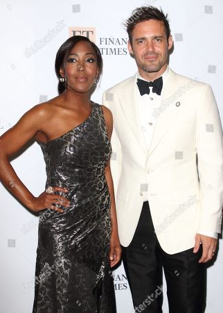 Stock Image of Angellica Bell and Spencer Matthews