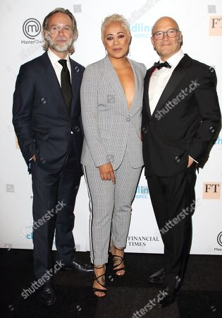 Marcus Wareing, Monica Galetti and Gregg Wallace