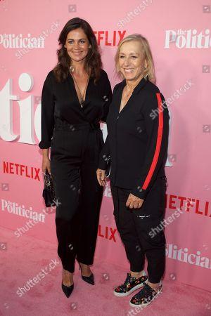 Stock Photo of Julia Lemigova and Martina Navratilova