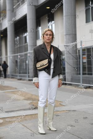 Editorial image of Street Style, Spring Summer 2020, Paris Fashion Week, France - 25 Sep 2019