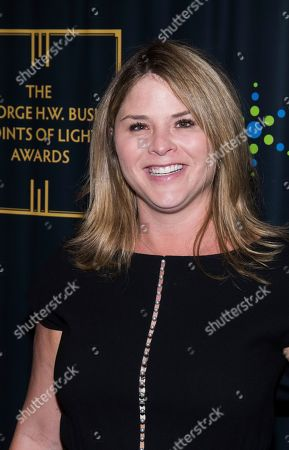 Jenna Bush Hager attends the George H.W. Bush Points of Light Awards Gala at the Intrepid Sea, Air & Space Museum, in New York