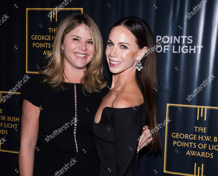 Jenna Bush Hager, Barbara Pierce Bush. Jenna Bush Hager. left, and Barbara Pierce Bush attend the George H.W. Bush Points of Light Awards Gala at the Intrepid Sea, Air & Space Museum, in New York