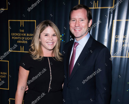 Stock Picture of Jenna Bush Hager, Henry Hager. Jenna Bush Hager and Henry Hager attend the George H.W. Bush Points of Light Awards Gala at the Intrepid Sea, Air & Space Museum, in New York
