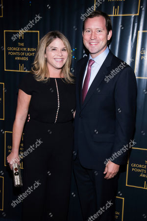 Stock Image of Jenna Bush Hager, Henry Hager. Jenna Bush Hager and Henry Hager attend the George H.W. Bush Points of Light Awards Gala at the Intrepid Sea, Air & Space Museum, in New York