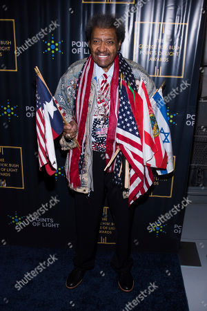 Stock Photo of Don King attends the George H.W. Bush Points of Light Awards Gala at the Intrepid Sea, Air & Space Museum, in New York