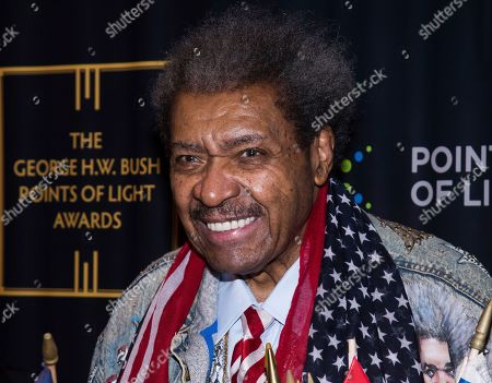 Don King attends the George H.W. Bush Points of Light Awards Gala at the Intrepid Sea, Air & Space Museum, in New York
