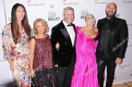 (L-R) Model Zofia Reno, Amy Sedaris, Andy Cohen, Sarah Jessica Parker and Celebrity Hairstylist Serge Normant