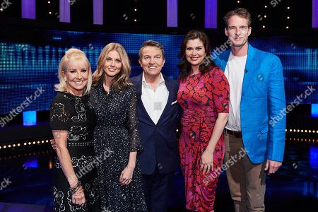 (L-R) Sarah Greene, Donna Air, host Bradley Walsh, Amanda Lamb and Dan Snow