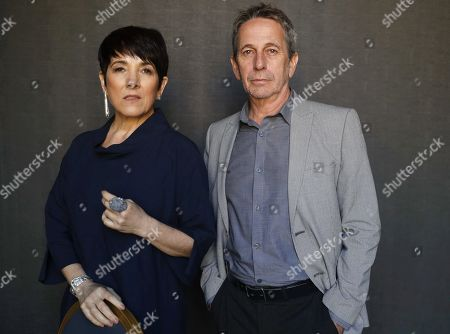 Alfredo Castro (R) and Paulina Garcia (L) pose as they arrive for a press conference of the film 'Algunas bestias' (Some Beasts) during the 67th edition of the San Sebastian International Film Festival, in San Sebastian, Spain, 27 September 2019.