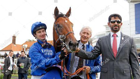 BENBATL (Oisin Murphy) with Saeed Bin Suroor after The Shadwell Joel Stakes Newmarket