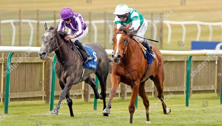 SPIRIT OF APPIN (right, Martin Dwyer) beats SIMPLY BEAUTIFUL (left) in Princess Anne Muhaarar Stakes Newmarket