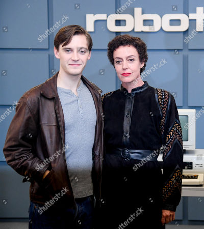 Stock Picture of Maria Schrader (R) and German actor Jonas Nay attend photo call the TV series Deutschland89 in Berlin, Germany, 27 September 2019.