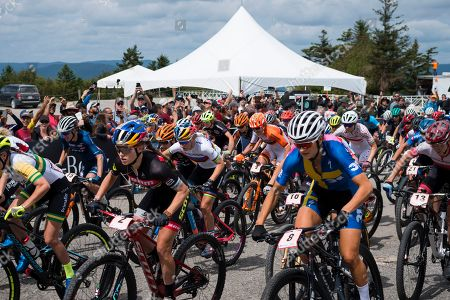 Stock Image of Kate Courtney, Scott-SRAM, USA Pauline Ferrand-Prevot, Canyon, FRA  Jenny Rissveds, Team 31, SWE