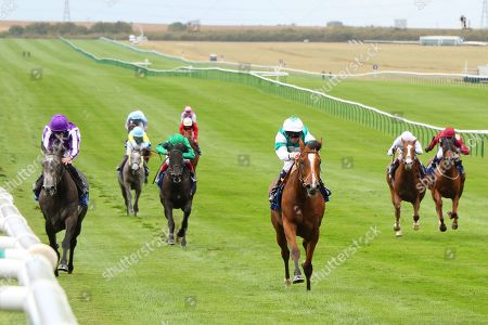 SPIRIT OF APPIN ridden by Martin Dwyer beating Simply Beautiful (left) in Princess Anne Muhaarar Stakes (Group 3) at Newmarket Copyright: Ian Headington/racingfotos.com