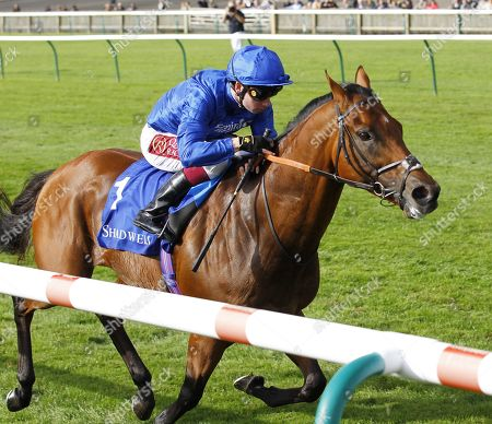 Benbatl and Oisin Murphy win the Shadwell Joel Stakes at Newmarket for trainer Saeed Bin Suroor.