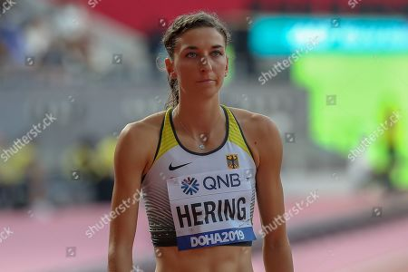 Christina Hering (Germany), 800 Metres Women - Round 1, Heat 1, during the 2019 IAAF World Athletics Championships at Khalifa International Stadium, Doha