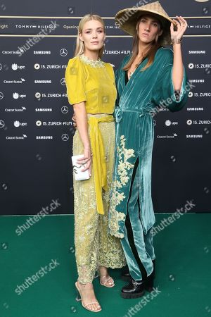 The Swiss Topmodel Tamy Glauser (right) with her partner Dominique Rinderknecht.