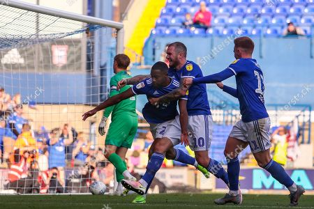 Kane Vincent-Young of Ipswich Town is congratulated after scoring his sides fourth goal, 4-1 - Ipswich Town v Tranmere Rovers, Sky Bet League One, Portman Road, Ipswich, UK - 28th September 2019 Editorial Use Only - DataCo restrictions apply