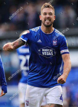 Stock Image of Luke Chambers of Ipswich Town celebrates after beating Tranmere Rovers 4-1 - Ipswich Town v Tranmere Rovers, Sky Bet League One, Portman Road, Ipswich, UK - 28th September 2019 Editorial Use Only - DataCo restrictions apply