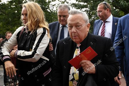 David Sullivan, co owner and chairman of West Ham United arrives with partner, Eve Vorley - AFC Bournemouth v West Ham United, Premier League, Vitality Stadium, Bournemouth, UK - 28th September 2019 Editorial Use Only - DataCo restrictions apply