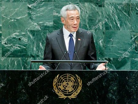 Singapore?s Prime Minister Lee Hsien Loong addresses the General Debate of the 74th session of the General Assembly of the United Nations at United Nations Headquarters in New York, New York, USA, 27 September 2019. The annual meeting of world leaders at the United Nations runs until 30 September 2019.