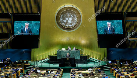 Singapore's Prime Minister Lee Hsien Loong addresses the General Debate of the 74th session of the General Assembly of the United Nations at United Nations Headquarters in New York, New York, USA, 27 September 2019. The annual meeting of world leaders at the UN runs until 30 September 2019.