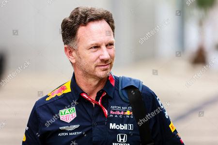 Stock Photo of Motorsports: FIA Formula One World Championship 2019, Grand Prix of Russia,  Christian Horner (GBR, Aston Martin Red Bull Racing),