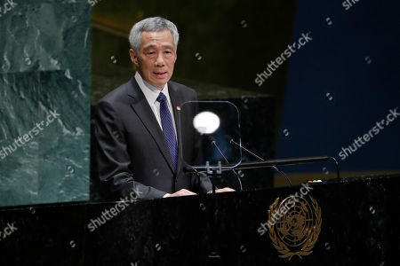 Singapore Prime Minister Lee Hsien Loong addresses addresses the 74th session of the United Nations General Assembly, at the United Nations headquarters